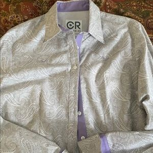 CR paisley with lavender trim